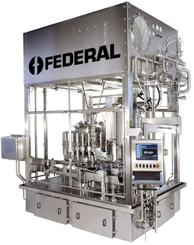 Federal net weight filler ESL/Aseptic model for 250ml to 4L product